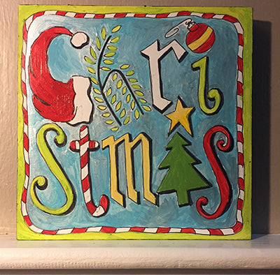 finished Christmas NicheBoard painted sample