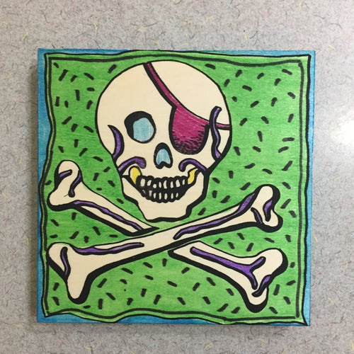 Finished Jolly Roger NicheBoard done with marker