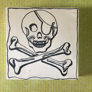 "6x6"" Paint and/or Coloring NicheBoard: Jolly Roger"