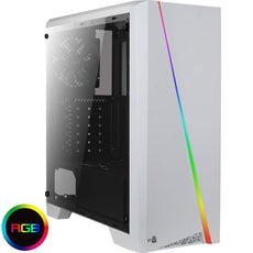 Aerocool Cylon ARGB ATX Mid Tower Case - White