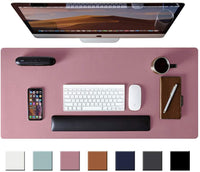 Leather DeskPad Protector - Pink Purple