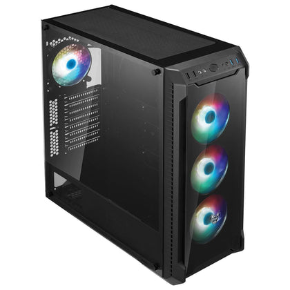 FSP CMT520 Plus ATX Mid-Tower Case - Black - Store 974 | ستور ٩٧٤