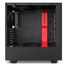 NZXT H500 ATX Mid Tower Case - Black/Red