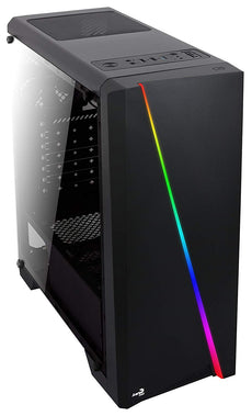 AEROCOOL Cylon RGB Mid Tower with Tempered Glass Side Window, Black
