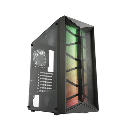 FSP CMT211 ATX Mid-Tower Case - Black - Store 974 | ستور ٩٧٤