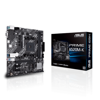 Asus Prime A520M-K AMD Micro ATX Motherboard - Store 974 | ستور ٩٧٤