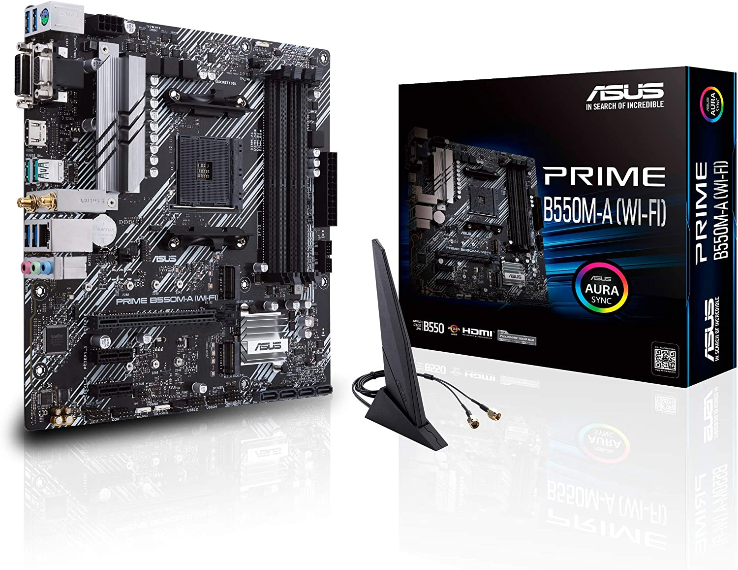 ASUS Prime B550M-A WiFi AMD AM4 Micro ATX Motherboard