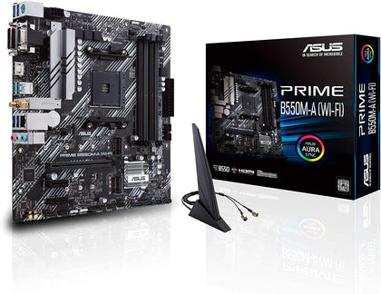 ASUS Prime B550M-A WiFi AMD AM4 Micro ATX Motherboard - Store 974 | ستور ٩٧٤