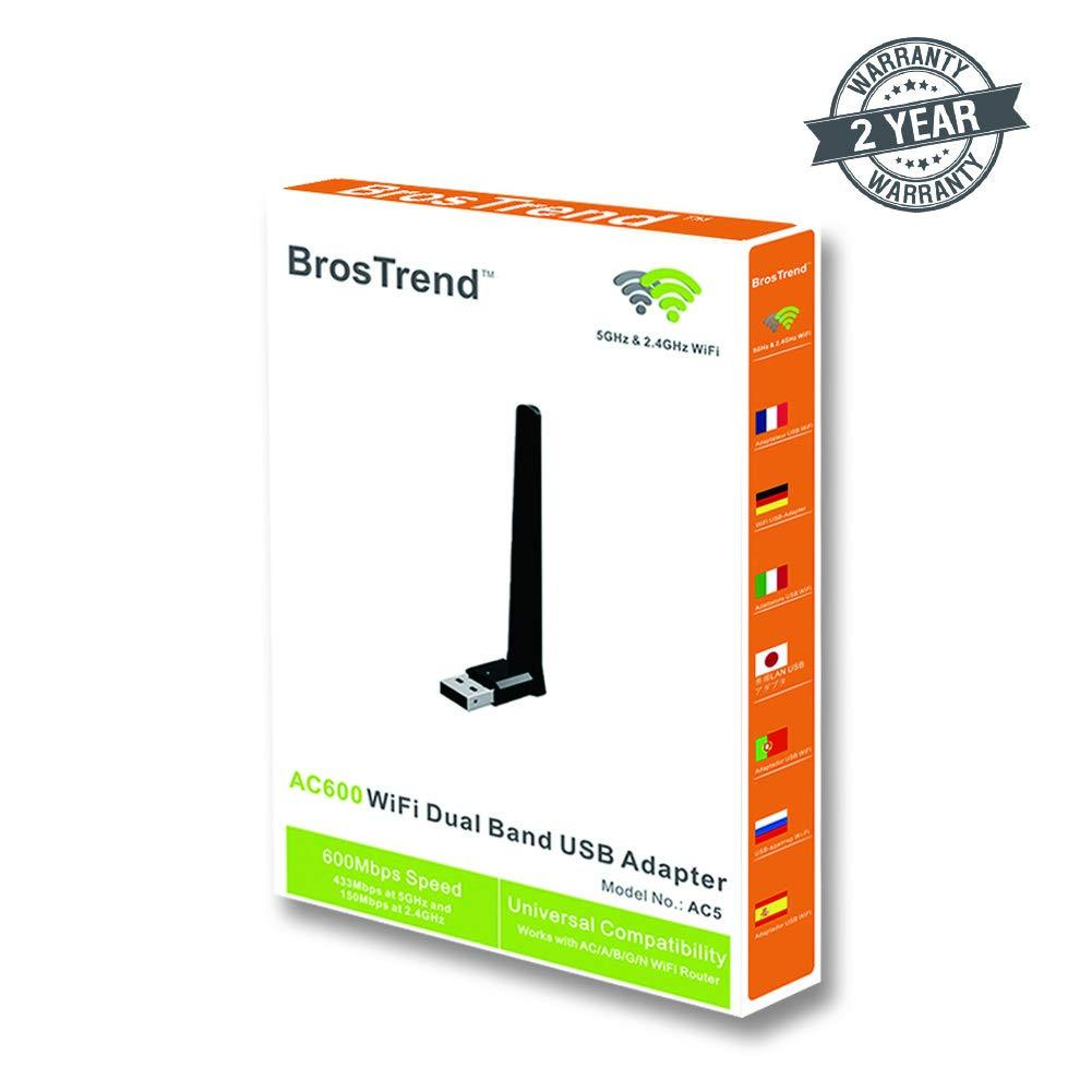 BrosTrend AC600 WiFi Dual Band USB Adapter - Store 974 | ستور ٩٧٤