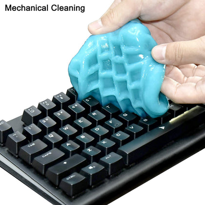 Color Coral Universal Dust Cleaning Gel for Keyboard - Sky Blue - Store 974 | ستور ٩٧٤