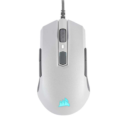 Corsair M55 Rgb Pro Ambidextrous Multi-Grip Wired Gaming Mouse - White - Store 974 | ستور ٩٧٤