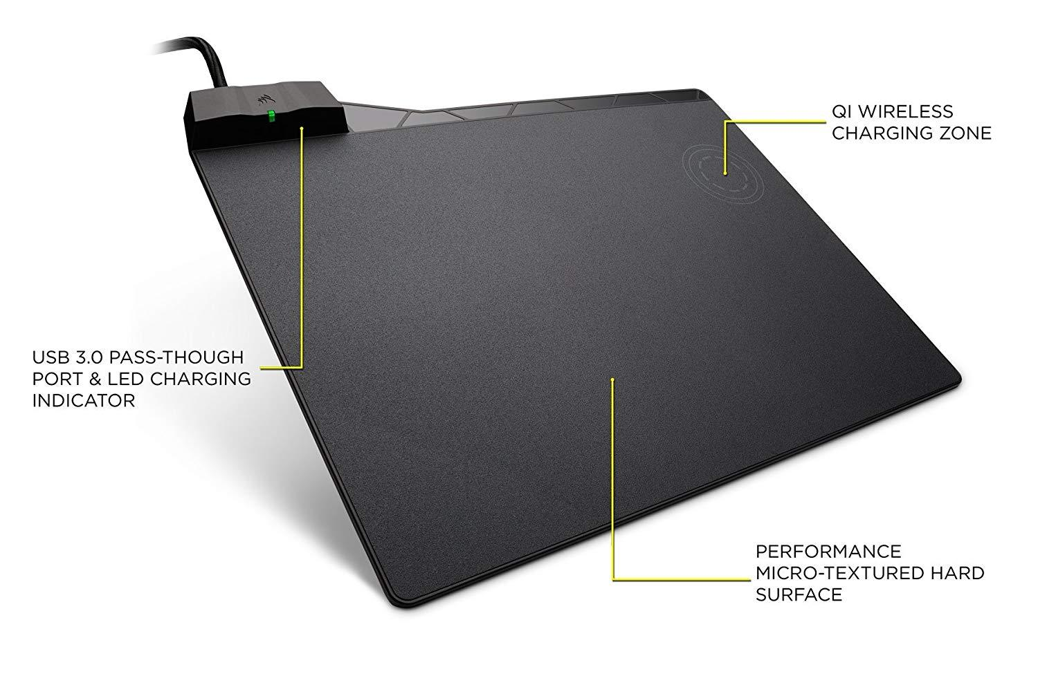 Corsair MM1000 Wireless Charging Gaming Mouse Pad