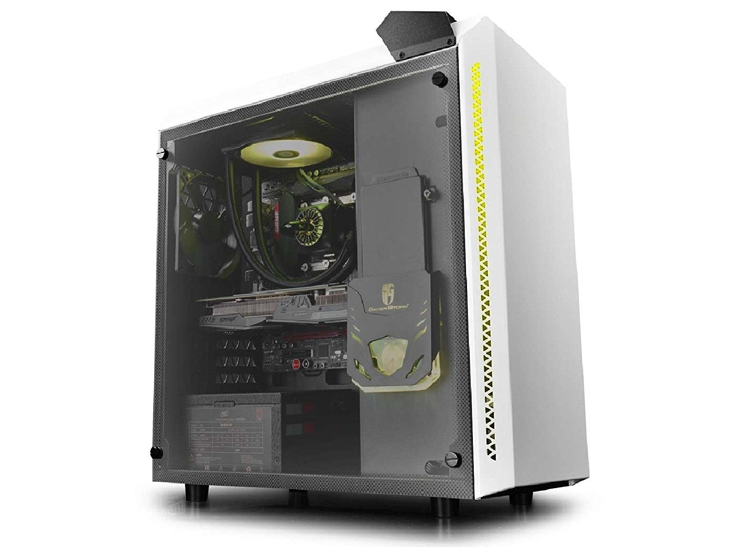 DeepCool Baronkase RGB ATX Mid Tower Case - White