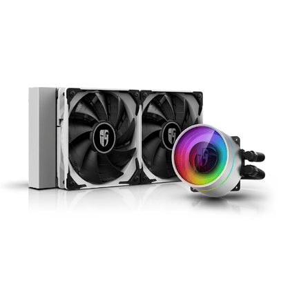 DeepCool Castle 240EX White - ARGB AIO Liquid CPU Cooler - Store 974 | ستور ٩٧٤