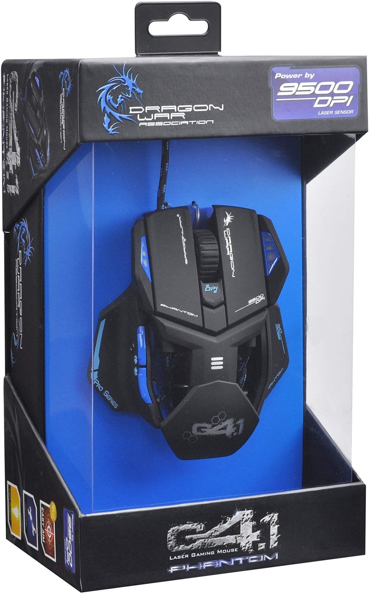Dragon War ELE-G4.1 Phantom Blue Gaming Mouse - Wired