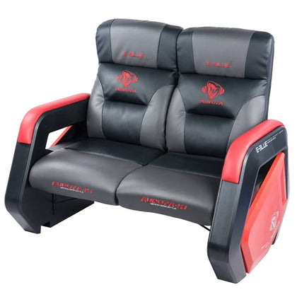 E-BLUE Gaming Double Sofa - Black/Grey/Red - Store 974 | ستور ٩٧٤
