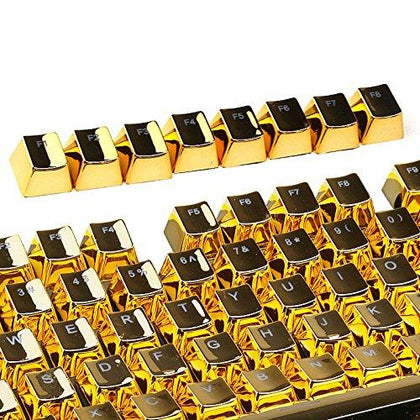 E-Element 104 Key Cherry MX Keycaps - Gold Plated - Store 974 | ستور ٩٧٤
