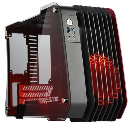 Enermax Steelwing Micro ATX Mid Tower Case - Red - Store 974 | ستور ٩٧٤