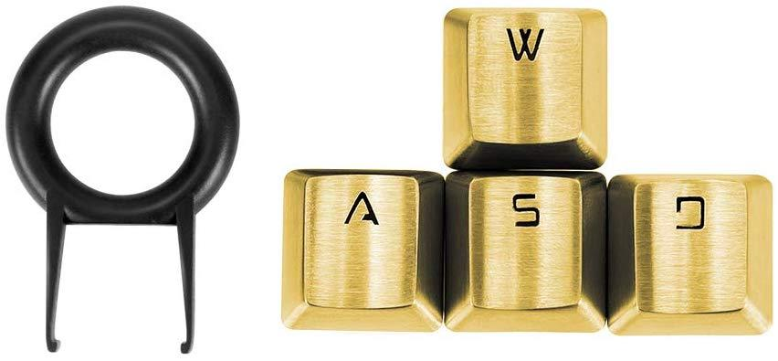 Fitlink 4 Key Stainless Steel Key Caps - Gold
