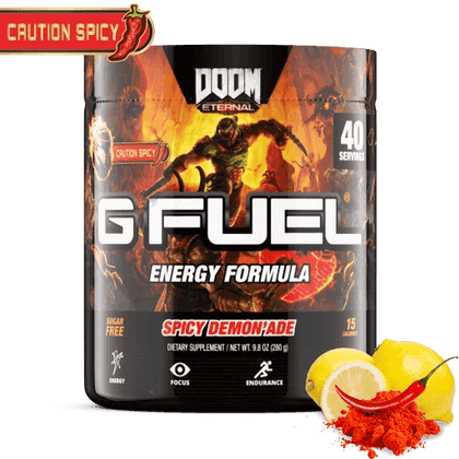GFuel Energy Formula -  Spicy Demon'ade 280g - Store 974 | ستور ٩٧٤