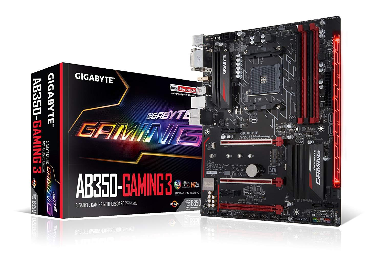 Gigabyte GA-AB350-Gaming 3 - AMD AM4 ATX Motherboard - Store 974 | ستور ٩٧٤