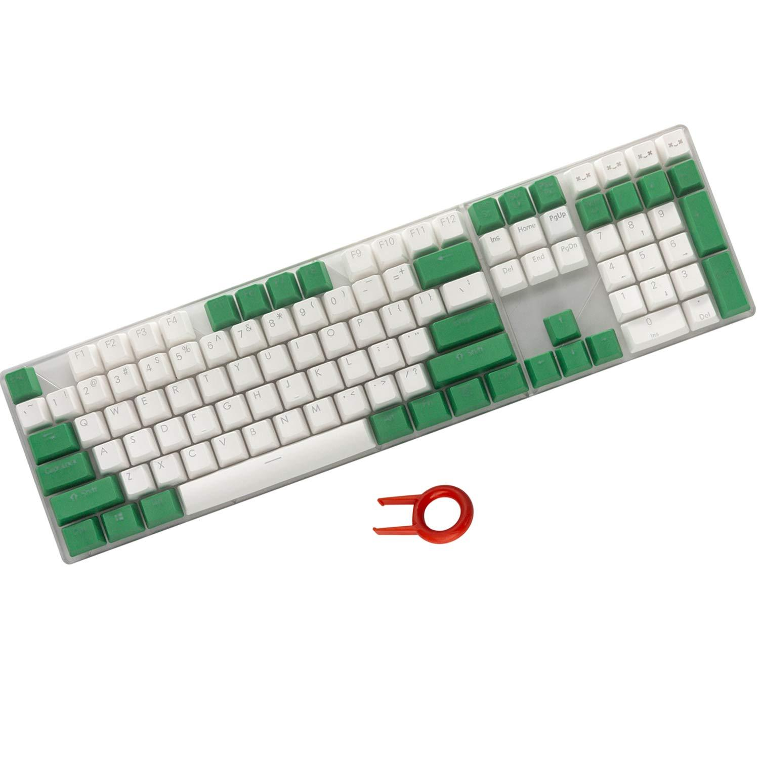 Happy Balls 108 Key PBT Cherry MX Keycaps - Green/White