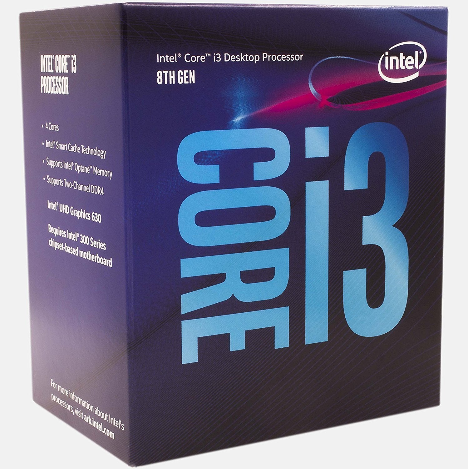 Intel Core i3-8100, 4 Cores, 3.6GHz LGA1151 CPU