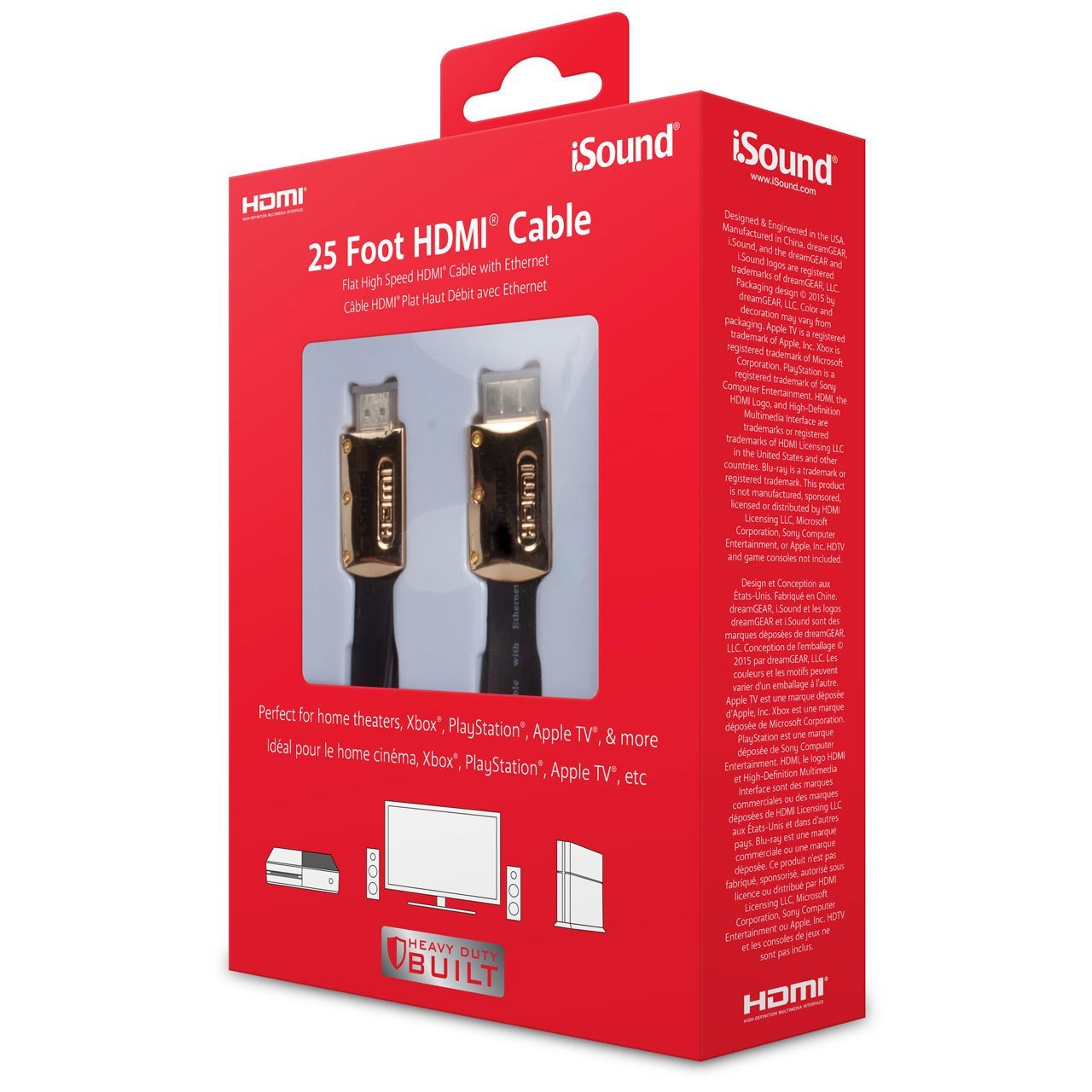 iSound HDMI Cable - 25ft