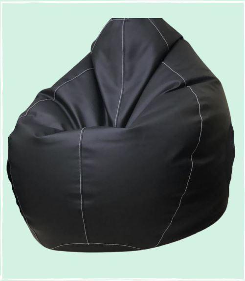 Lazy Panda Handmade Two Tone Stitch Bean Bags - Black