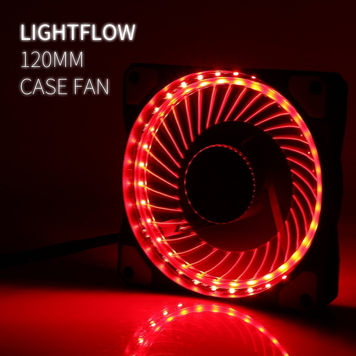 LeaningTech LTC LitFlow 120mm, 32LED AirFlow Case Fans - Green
