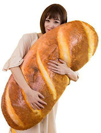 Levenkeness 3D Simulation Bread Shape Plush Pillow - Store 974 | ستور ٩٧٤