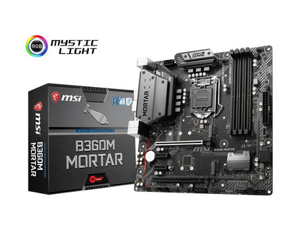 MSI B360M Mortar Arsenal Gaming - Intel Micro ATX Motherboard - Store 974 | ستور ٩٧٤
