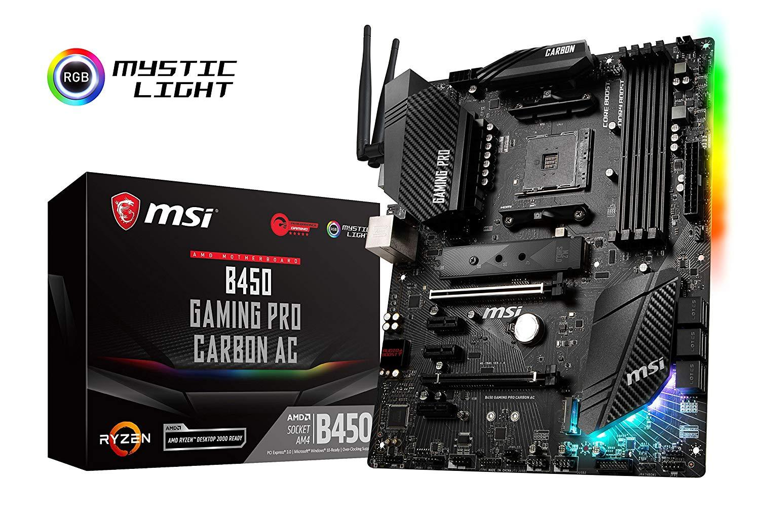 MSI B450 Gaming Pro Carbon AC - AMD ATX Motherboard