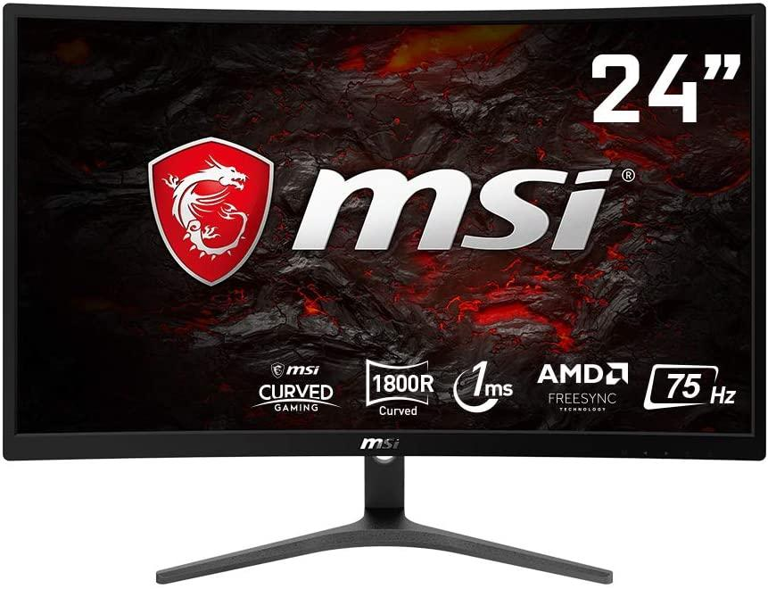 MSI Optix G241VC Curved Gaming Monitor 23.6 Inch, Full HD, 75 Hz