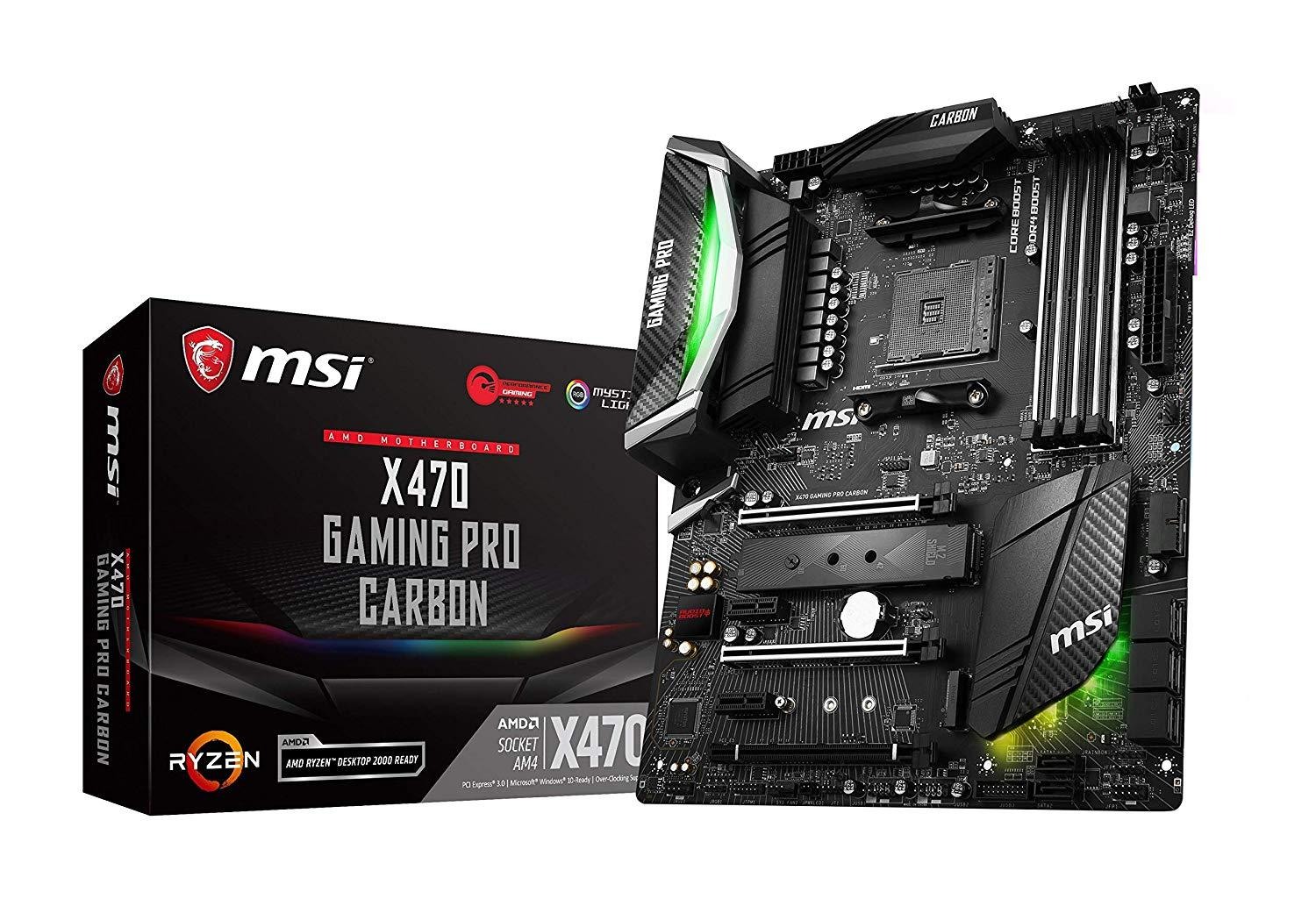 MSI X470 Gaming Pro Carbon - AMD ATX Motherboard