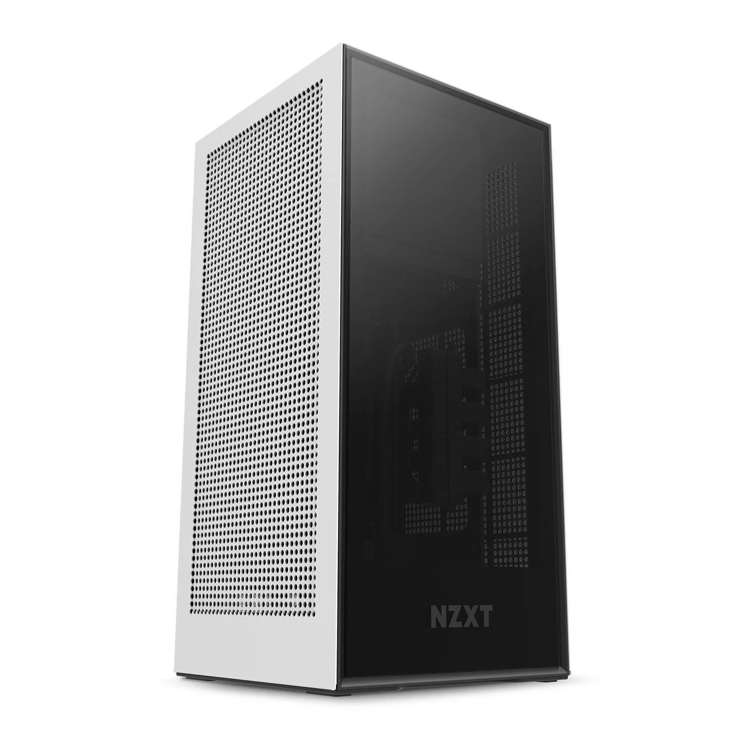 NZXT H1 TEMPERED GLASS MINI ITX CASE - WHITE