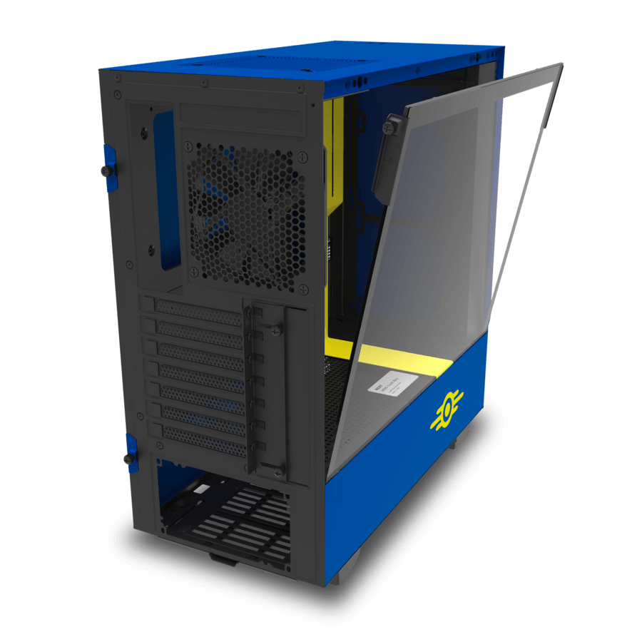 NZXT H500 Vault Boy Limited Edition (1/1,000 Units) ATX Mid Tower Case - Blue/Yellow
