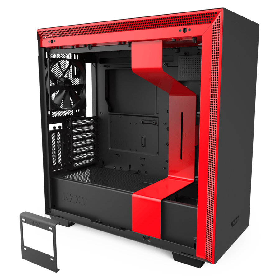 NZXT H710i - ATX Mid Tower Case - Black/Red