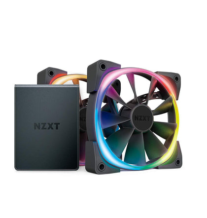 NZXT HUE 2 & Aer RGB V2 120mm Fans Bundle Pack - Store 974 | ستور ٩٧٤