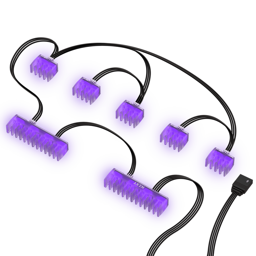 NZXT HUE 2 RGB Cable Comb Accessory Lighting Kit