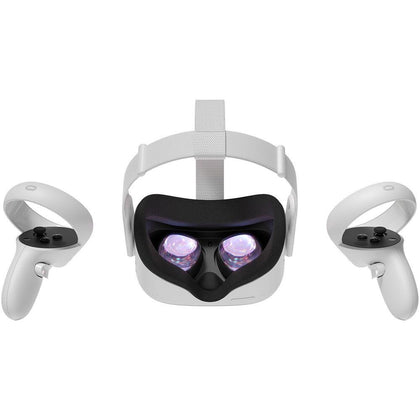 Oculus Quest 2 All In One 64GB VR Headset - White - Store 974 | ستور ٩٧٤