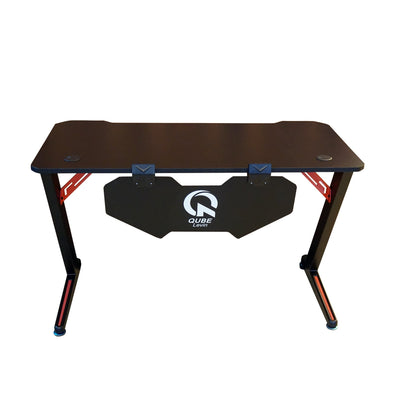 Qube Levin Gaming Black/Red Table - N2011GD009-B - Store 974 | ستور ٩٧٤