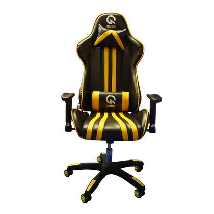 QUBE Levin Gaming Chair D2012002Y - Black/Yellow - Store 974 | ستور ٩٧٤