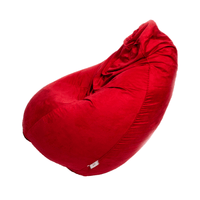 Rafan Bean Bag Suede XXXL - Red - Store 974 | ستور ٩٧٤
