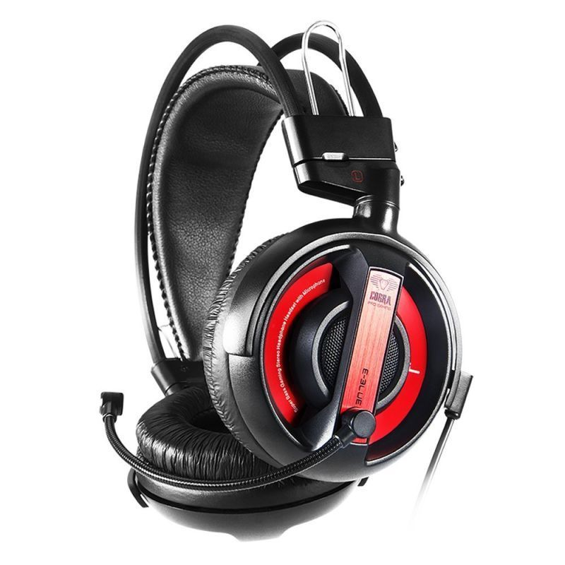 E-BLUE Cobra HS 13 Entry Level Gaming Headset - RED