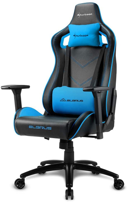 Sharkoon Elbrus 2 Gaming Chair- Black/Blue - Store 974 | ستور ٩٧٤