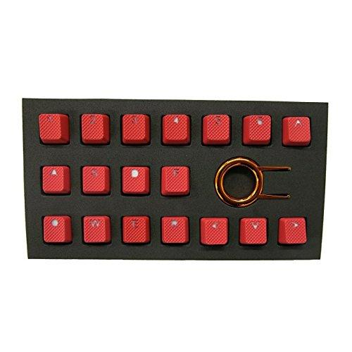 Tai-Hao 18 Key ABS Rubber Keycaps - Red