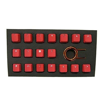 Tai-Hao 18 Key ABS Rubber Keycaps - Red - Store 974 | ستور ٩٧٤
