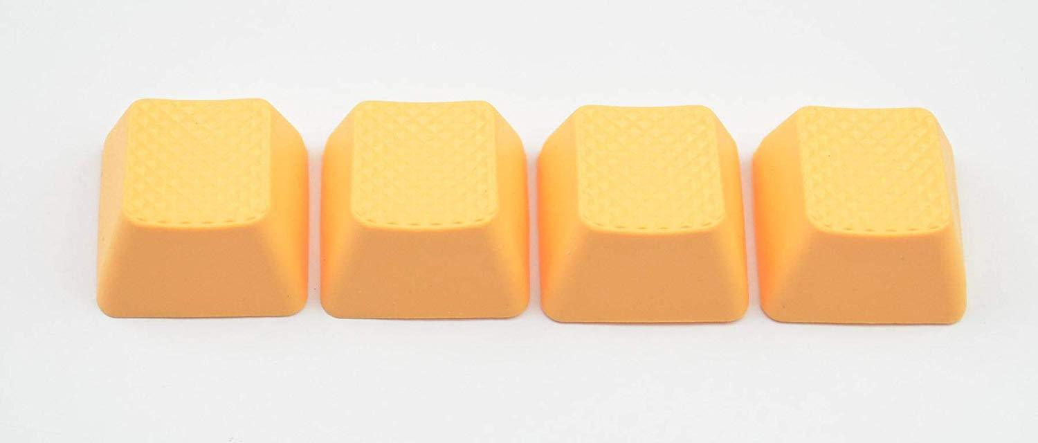 Tai-Hao 4 Key ABS Rubber Keycaps - Neon Orange