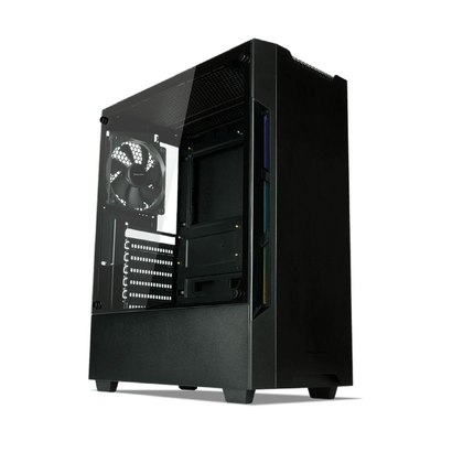 TECWARE NEXUS EVO ATX CASE W/ 3x120MM FANS - Black - Store 974 | ستور ٩٧٤